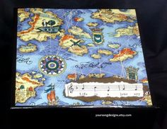 Old Maps and Constellations Travel Keepsake Box by YourSongDesigns