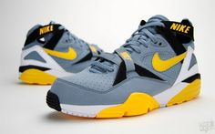 Nike Air Trainer Max returns to the weight room in the heat of the  offseason. Donning the original Grey Stone/Medium Yellow-White colorway, ...
