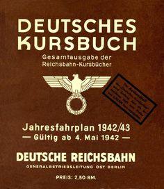 Railway Timetable Deutsches Kursbuch - 1942-43