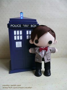 11th Doctor (Smith) and TARDIS...