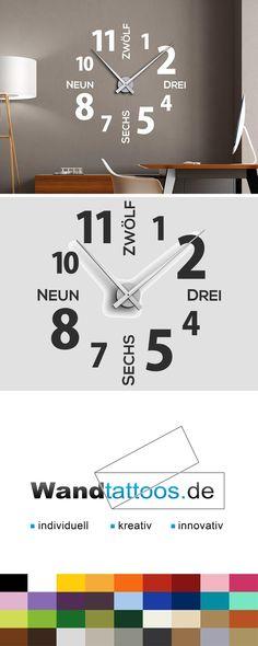 Wandtattoo Uhr Moderne Zeiten als Idee zur individuellen Wandgestaltung. Einfach Lieblingsfarbe und Größe auswählen. Weitere kreative Anregungen von Wandtattoos.de hier entdecken!