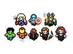 The Avengers and Loki Movie Style Perler Sprites by ShowMeYourBits