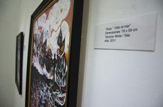 Una de las obras de la artista en exposición. Foto: Fernando Medina / Cubahora.