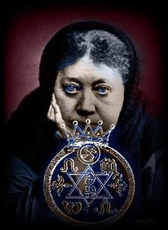 """Helena Blavatsky/""""Mankind is obviously divided into god-informed men and lower human creatures. The sacred spark is missing in them and it is they who are the. inferior races on the globe."""" - Helena Blavatsky, The Secret Doctrine Helena Blavatsky, The Secret Doctrine, Theosophical Society, Ancient Mysteries, World Religions, Freemasonry, Skull And Bones, Our Lady, Spirituality"""