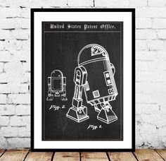 Star Wars R2D2 Droid Patent, Star Wars R2D2 Droid Poster, Star wars, r2d2, Star wars poster, Star wars art
