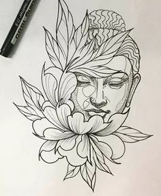 Best tattoo lotus buddha beautiful IdeasYou can find Buddha tattoos and more on our website. Buddha Tattoo Design, Tattoo Design Drawings, Tattoo Sketches, Lotus Tattoo Design, Trendy Tattoos, New Tattoos, Tattoos For Guys, Cool Tattoos, Awesome Tattoos