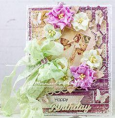shabby chic happy anniversary cards for husband | Shabby Chic Happy Birthday Card by AMermaidsCrafts on Etsy