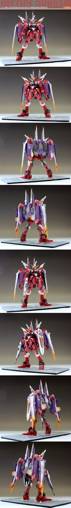 RG 1/144 Justice Gundam G-Farmer Arranged Finished Kit: Full Photoreview [WIP too] Many Images!