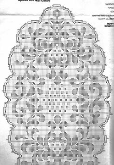 This post was discovered by Νέ Crochet Edging Patterns, Filet Crochet Charts, Weaving Patterns, Crochet Stitches, Crochet Tablecloth, Crochet Doilies, Crochet Home, Knit Crochet, Lace Stencil