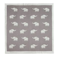 Elephant Knitted Blanket in Taupe - we love this draped over a glider in an elephant-themed nursery!