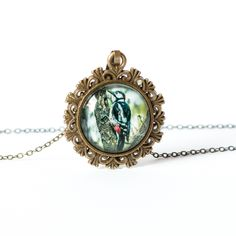 Naszyjnik z dzięciołem / Woodpecker necklace - Art-Of-Nature