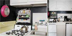 Ashlina Kaposta, aka The Decorista's Upper West Side studio. Kitchen Studio apartment in NY, Manhattan, NYC.