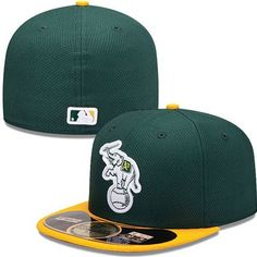Oakland Athletics New Era MLB Diamond Tech 5950 Fitted Hat (Green) 2e481e9b09b0