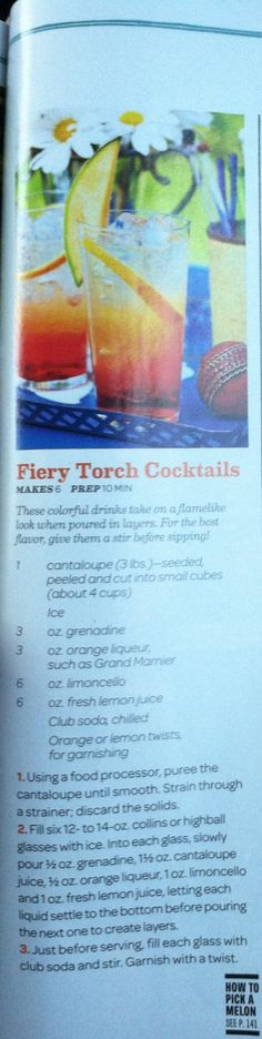 Fiery Torch Cocktails