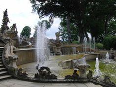 the Baroque cascade at Schloss Seehof