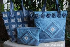 Ulla's Quilt World: Quilted pouch and bag + Cathedral window quilt bag. Saturday, January 25, 2014.
