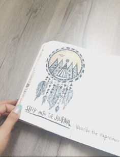 Wreck this Journal - my 'sleep with the journal' page.