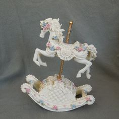 SALE Carousel Rocking Horse Music Box Plays by GlorysGoods on Etsy, $5.50