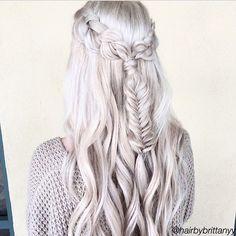 Game of Thrones Style Hair. #DaenerysTargaryen