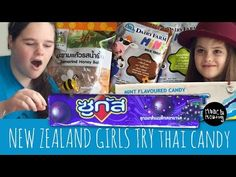 NZ Girls try Thai Candy | Munch Monday | Thai Snack Online | Buy Snacks Free Worldwide Shipping