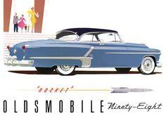 Plan59 :: Classic Car Art :: 1952 Oldsmobile 98