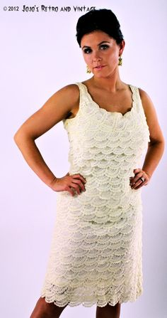 60s vintage crocheted sheath dress / by JojosRetroandVintage, $90.00