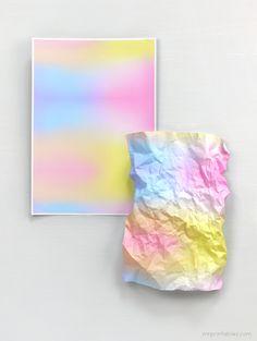 Changing Skies printable gradient papers