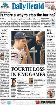 Daily Herald front page, Dec. 10, 2012