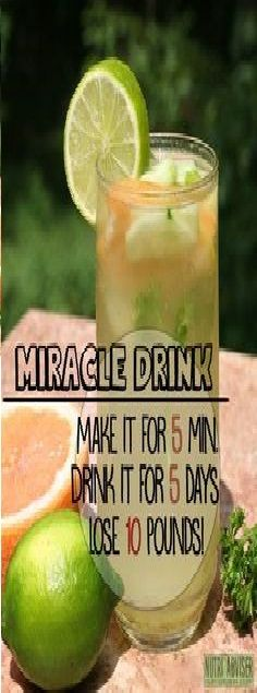 Make It In 5 Minutes, Drink It For 5 Days And Lose 10 Pounds!