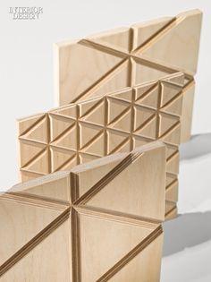 Material: Madera-Skin. C OMPOSICIÓN: Chapas de madera y nylon. Fotografía por P aul Godwin.