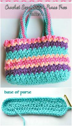 Crochet Seed Stitch Purse Free Pattern