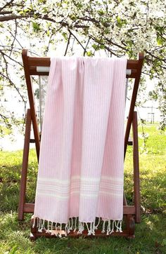 Linum Home Textiles 'Luxe Herringbone' Turkish Pestemal Towel available at #Nordstrom