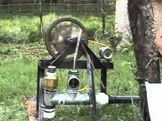 hydram engine, motor hammer, motor de golpe de ariete con generador electrico, hydram engine electric generator