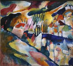 Wassily Kandinsky Landscape with Rain (landschaft Mit Regen) print for sale. Shop for Wassily Kandinsky Landscape with Rain (landschaft Mit Regen) painting and frame at discount price, ships in 24 hours. Cheap price prints end soon. Kandinsky Art, Wassily Kandinsky Paintings, Henri Matisse, Blue Rider, Museums In Nyc, Famous Artists, Oeuvre D'art, Art Reproductions, Impressionism