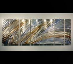 Heavenly Flight - Modern Abstract Metal Wall Art Sculpture Painting by Jon Allen: Contemporary Metal Art Sculptures by Jon Allen