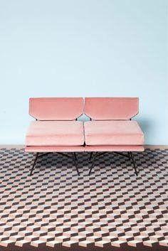 Pink Furniture, Velvet Furniture, Furniture Logo, House Furniture, Furniture Design, Outdoor Sofa, Outdoor Furniture, Outdoor Decor, Outdoor Dining
