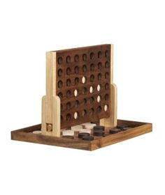 Game + table top accessory - Wooden Four-in-a-Row  $50, cb2.com