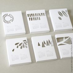 How cool is this! A papercut 3D calendar, either shows off your wall color or you can add colored paper behind.