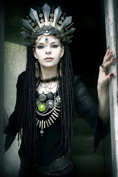 Tribal goth dreads