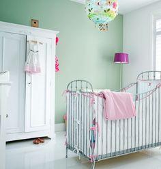 soft grn gestrichene wandfarbe an eiscreme erinnerd ideen fr wnde im babyzimmer - Kinderzimmer Wandfarbe