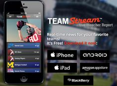 "17) Team Stream // At the end of 2011, BR goes mobile with Team Stream, an app that allows fans to personalize the homepage with their favorite teams and topics, and to access real-time news from multiple feeds on the go. Social media is flawlessly integrated into the app and encourages sharing and discussion. Although BR's official positioning is to ""augment sites like ESPN"", Team Stream, which is a huge success, makes many fans switch from ESPN to BR."