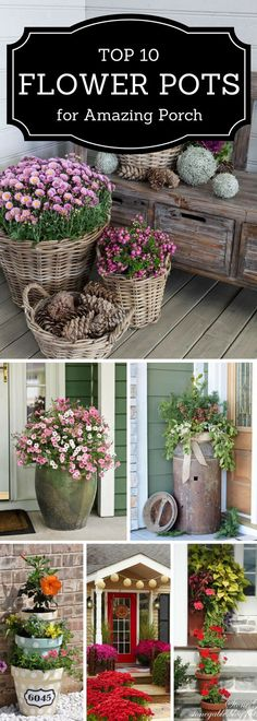 One, two, three, plant something! Browse 10 flower pot ideas for your outdoor oasis
