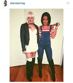 Easy chucky bride of chucky halloween costumes from your closet chucky and bride of chucky solutioingenieria Images