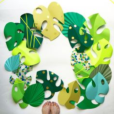 Paper Craft Leaves by Sew Yeah