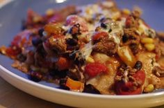 Mexican Casserole   								This is a delicious Mexican Casserole recipe with only 6.5 weight watcher points per LARGE serving!  YUM!  (on the new, Points Plus system of Weight Watchers, this recipe is 9 points)