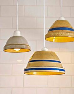 DIY Brilliant Bowl Lampshades #lampshades #interiors #home #decoration #home #yourhomemagazine  #garden #indoors #outdoors