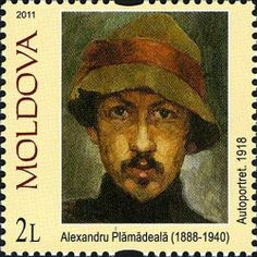 Alexandru Plămădeală self portrait . Moldava Alexandru Plamădeală was a Romanian/Moldovan sculptor. He was the artist responsible for the creation of the Stephen the Great Monument in Chişinău Postage Stamp Art, Portrait Art, Portraits, Small Art, Stamp Collecting, Art Gallery, Fine Art, Painters, Postcards