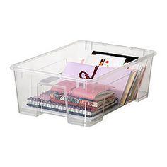 SAMLA Caja - transparente, 39x28x14 cm/11 l - IKEA