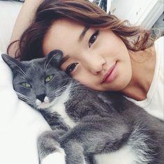 imjenn clothesencounters Korean Girl, Asian Girl, Jenn Im, Cats Of Instagram, Instagram Posts, Korean Actresses, Korean Celebrities, Pretty Hairstyles, Pretty People