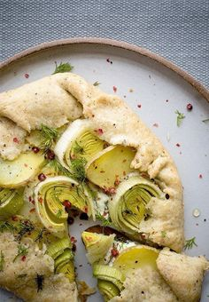 goat cheese leek and potato galette with pistachio crust